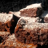 Vampire Week: Blade's Black Garlic Brownies