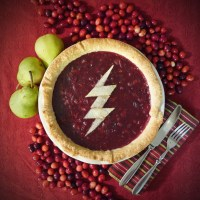 CW The Flash Cranberry, Pear and Crystallized Ginger Pie