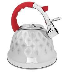 Red Whistling Tea Kettle Pot - Aviation Grade