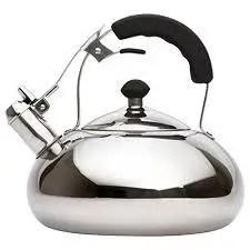 Vanika Stainless Steel Tea Kettle; Whistling Teapot Design; Large