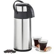 VonShef Thermal Airpot Carafe Coffee Beverage Dispenser Stainless Steel