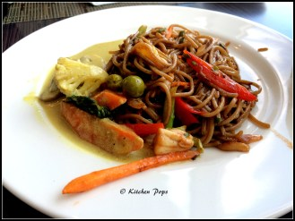 Noodles & Green Thai Curry