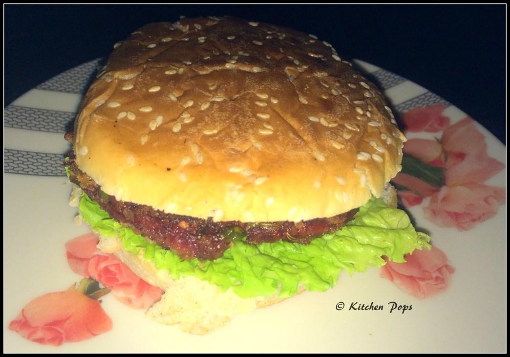 Bengali chops burger