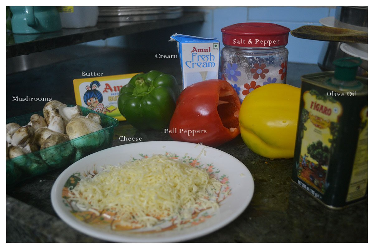 Ingredients for Alfredo Sauce