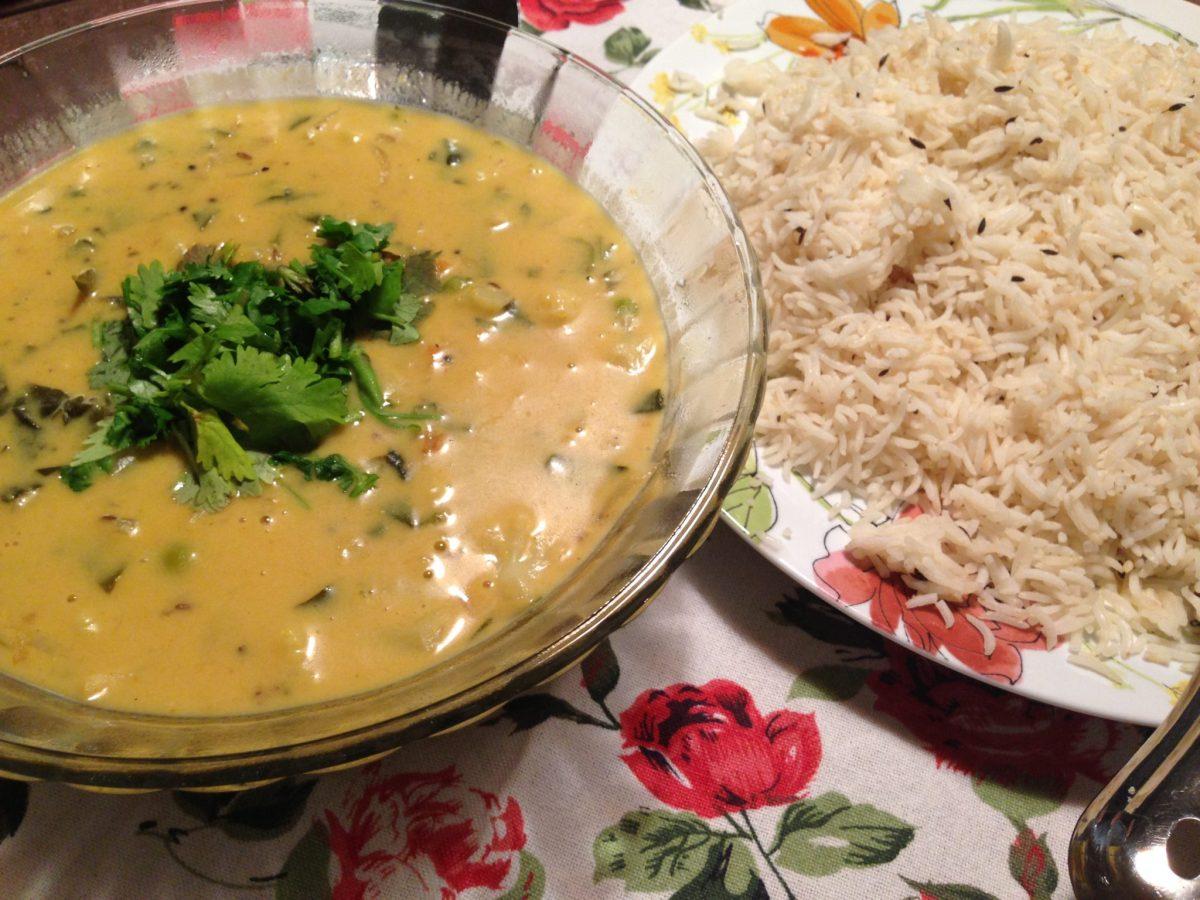 Kadhi with vegetables