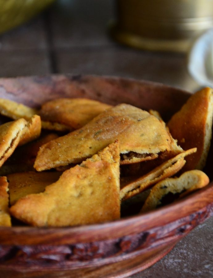 Homemade Whole wheat Pita & Pita Chips