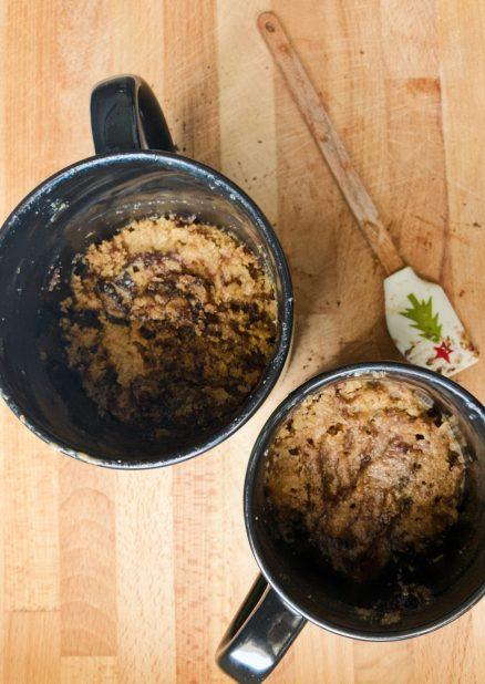 Banana Oats Peanut Butter Mug Cake