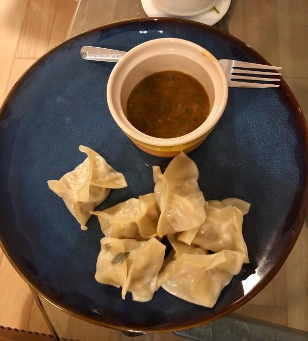 Homemade momos, Nepali dumplings.