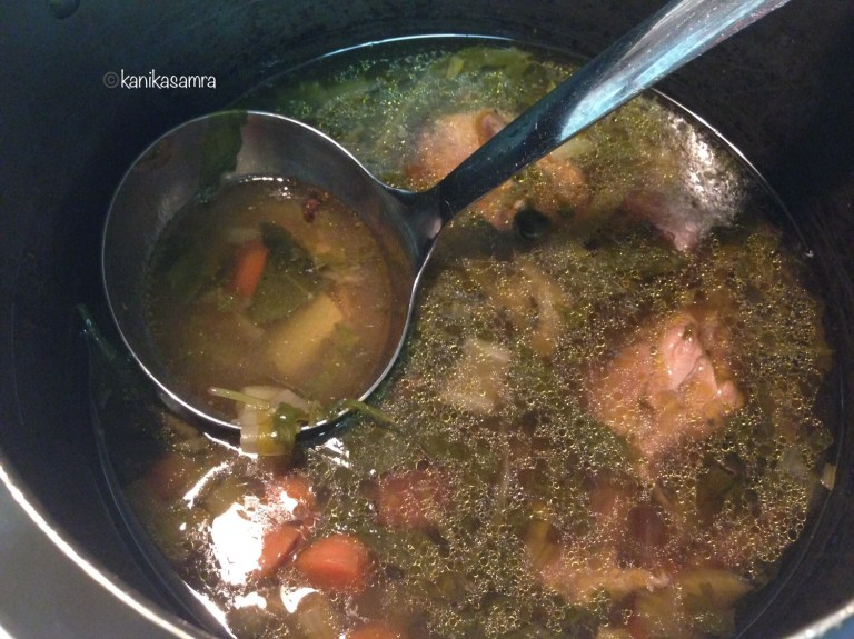 Chicken Soup - clear with vegetables.