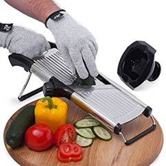 Kitchen Mandoline Travel Trailers With Rear How To Use A And Slicing Tips Protective Gloves Are Also Great Way Keep An Accident From Happening You Can Find Them Everywhere In Stores On The Net