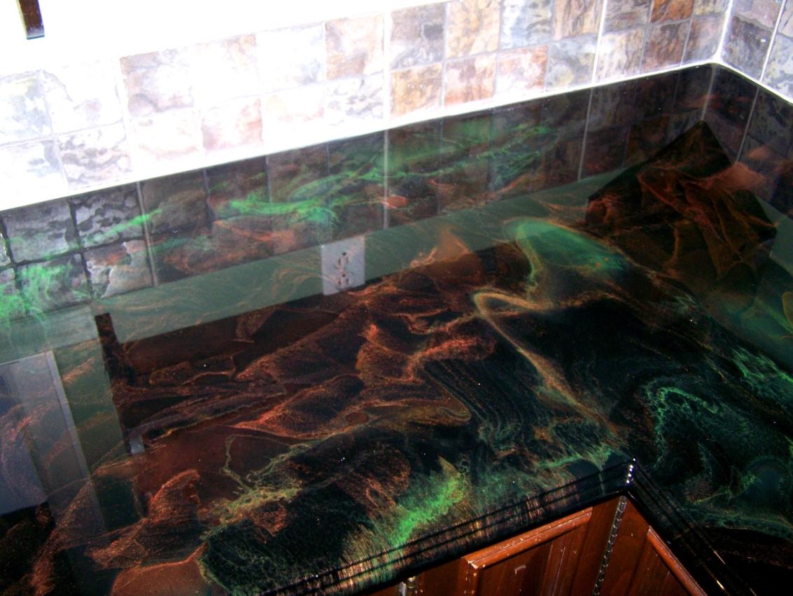 epoxy resin kitchen countertops rv 10 unique countertop designs that actually work