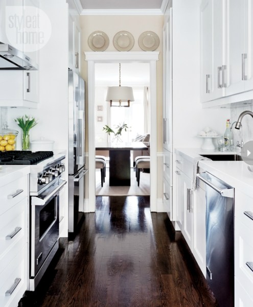 white galley kitchen designs Galley Kitchen | New Design Ideas | Kitchen Remodeler