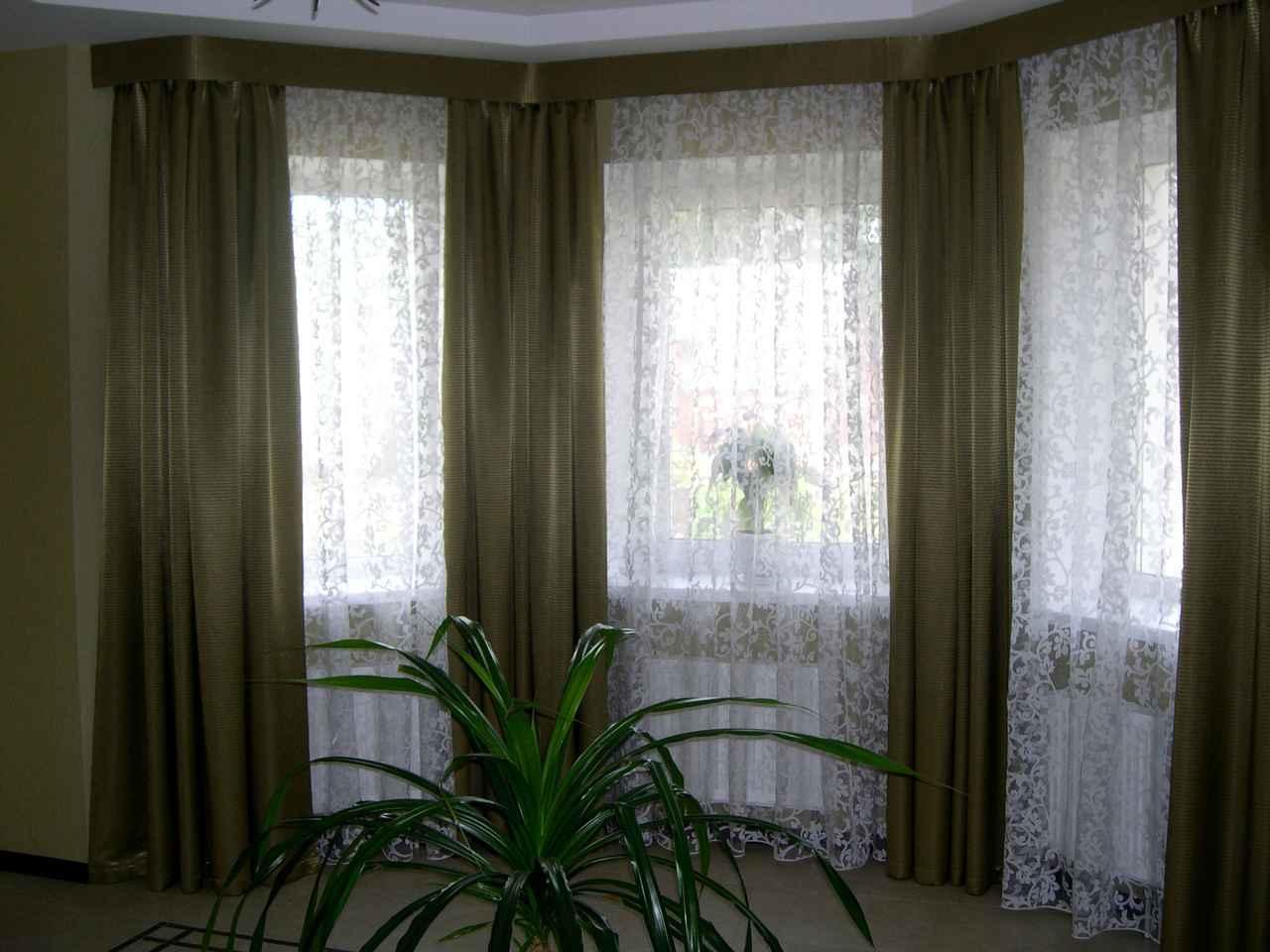 варианты штор на эркерное окно фото его помощью можно