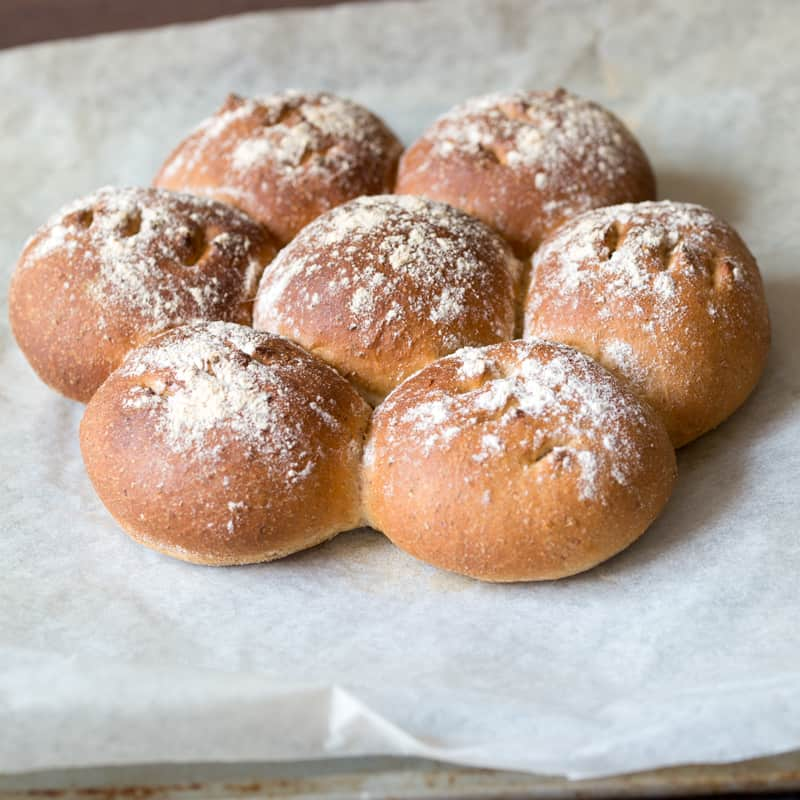 Ale Bread Rolls - made with English Ale and a mix of wholemeal and white flour. Seriously tasty!
