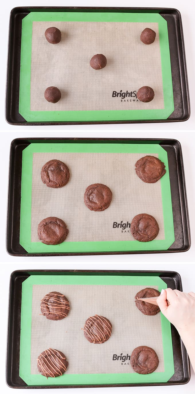 Chewy Chocolate cookies with a gooey Rolo centre!
