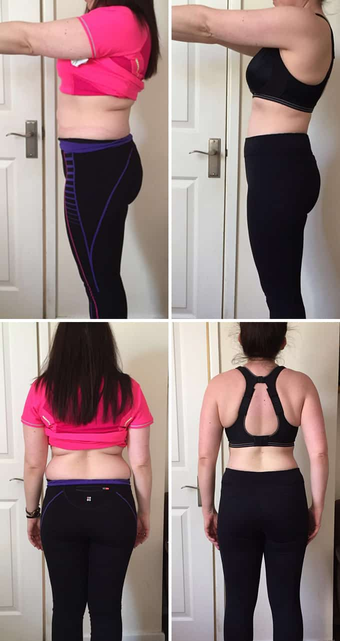 Nicky before after personal trainer 1 stone weight loss