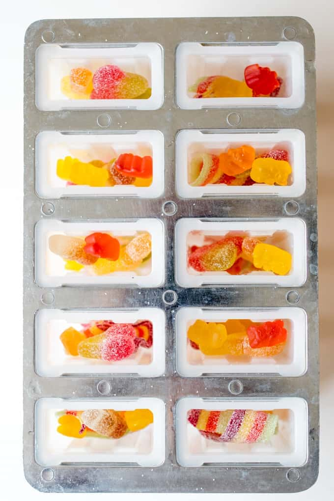 Ok yes, these pick n' mix popsicles are pretty naughty, but they're so much fun for treat day!