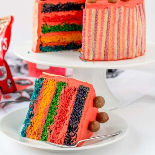 Red Nose Day Rainbow Cake!