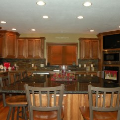 Hickory Cabinets Kitchen Mini Kitchens Kraftmaid Belmont With Sunset Stain | ...