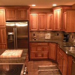 Kraftmaid Kitchens Gallery Kitchen Faucet Stainless Steel Hickory Sunset Marquette Cabinetry! | ...