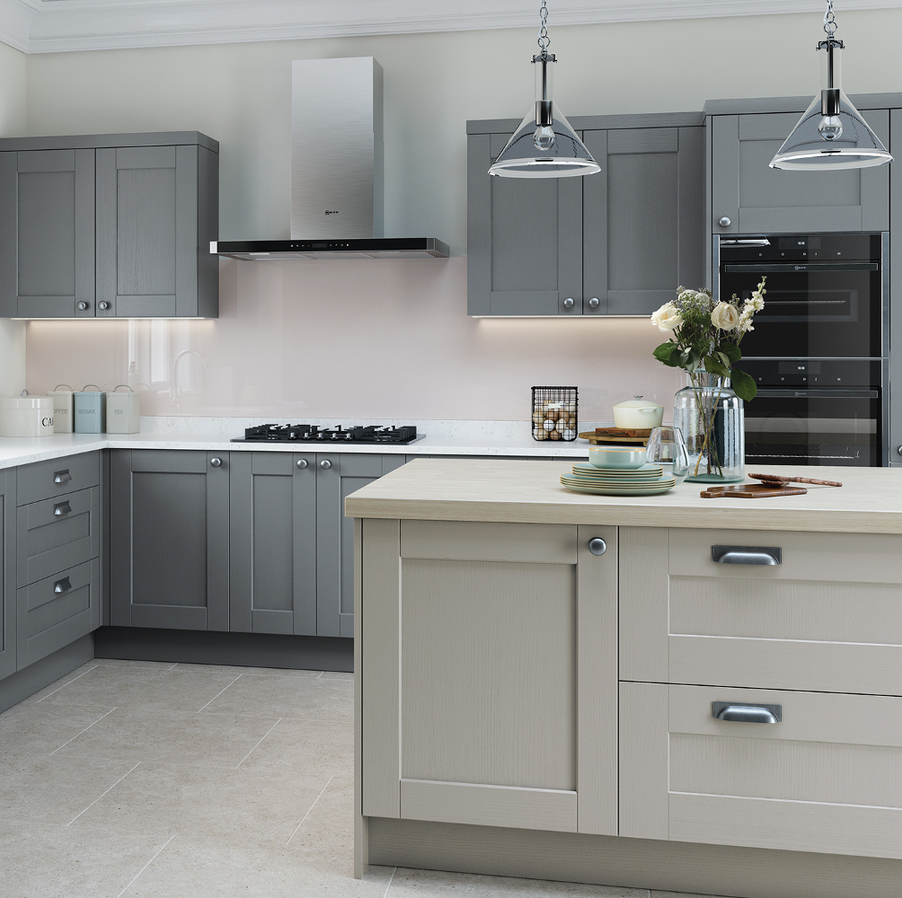 Kensington Kitchen In Light Grey And Dust Grey – Kitchens Direct NI