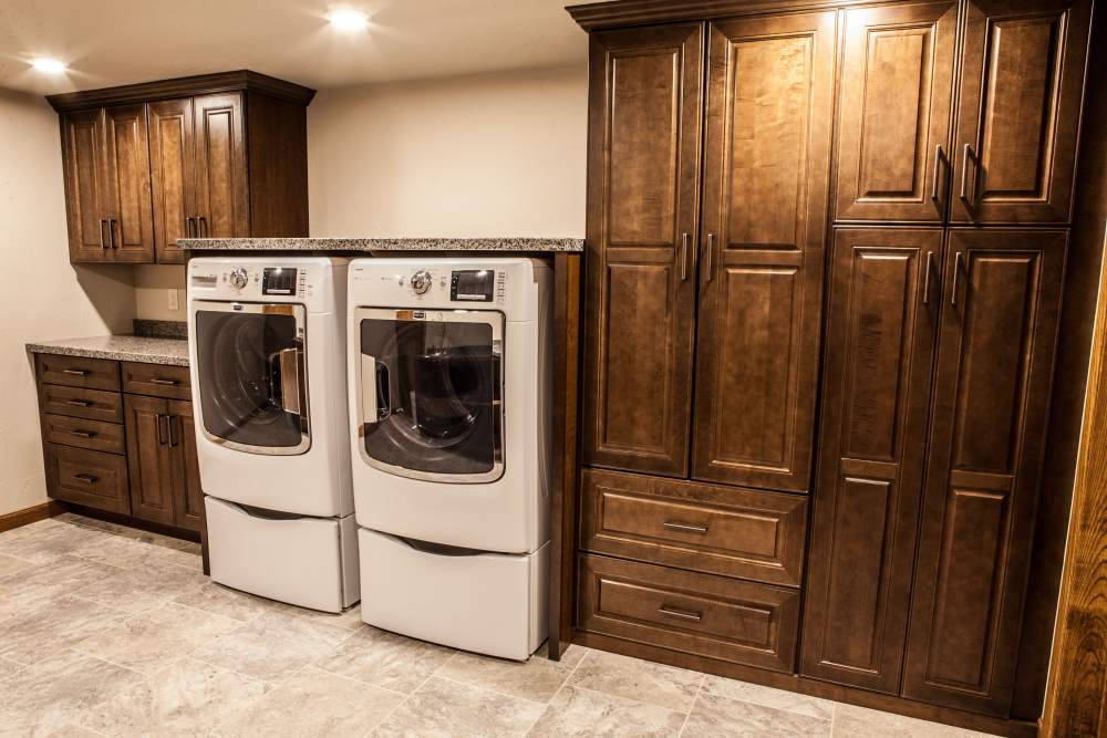 Custom cabinetry in your laundry room