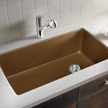 brown kitchen sink prefab outdoor kitchens colour sinks taps picture for category
