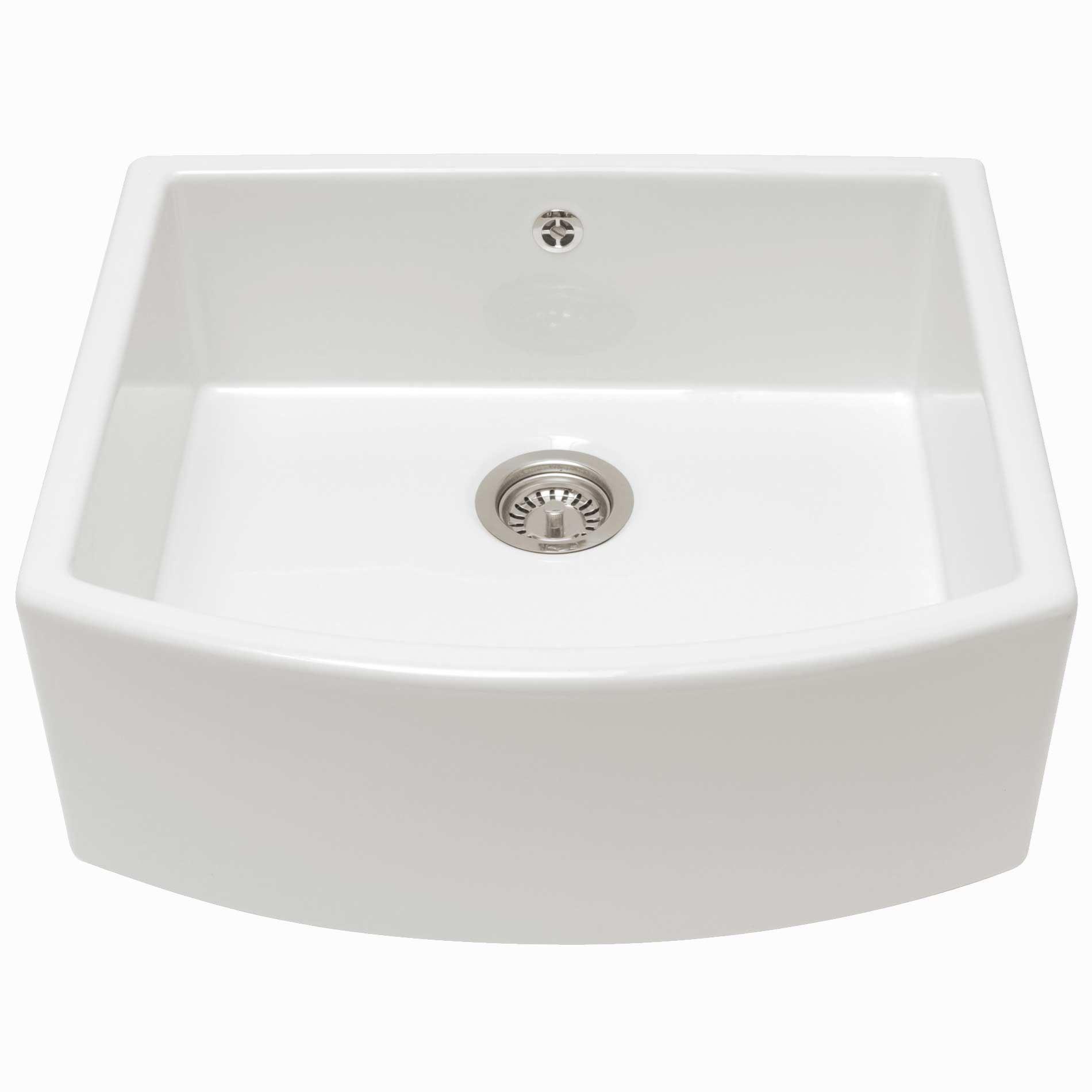 single bowl kitchen sinks nook lighting caple pemberley ceramic sink