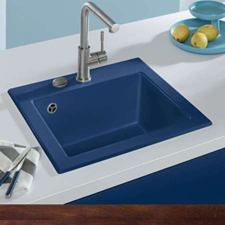 colored kitchen sinks remodeling lancaster pa colour taps picture for category blue