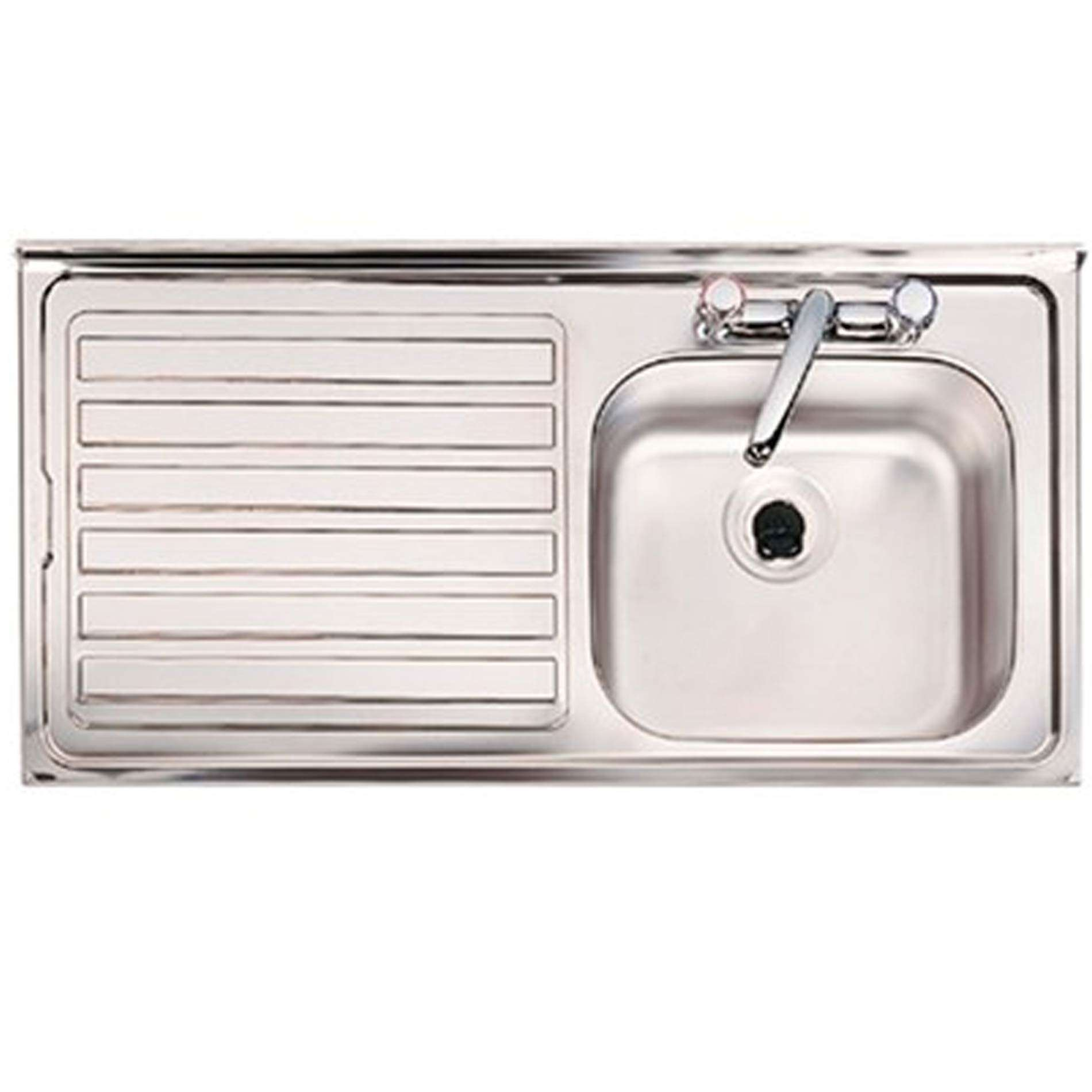 single bowl stainless kitchen sink blendtec mill clearwater contract bs 2 tap hole steel picture of