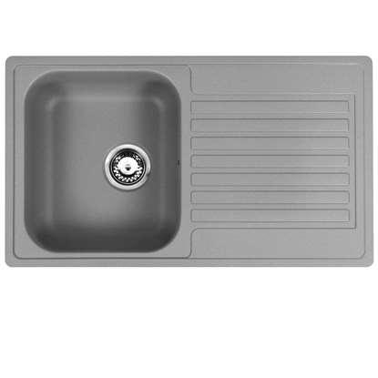 gray kitchen sink country style curtains grey sinks taps reginox centurio 1 0 bowl atomic stainless steel