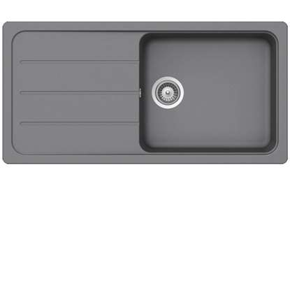 gray kitchen sink free standing shelves grey sinks taps schock formhaus d100l croma granite