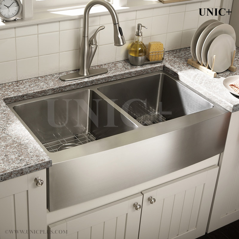 36 kitchen sink cabinet showroom inch small radius stainless steel farm apron kar3621d in vancouver