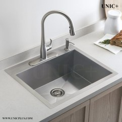 24 Inch Kitchen Sink Commercial Supplies Small Radius Stainless Steel Top Mount Ktr2421in Vancouver