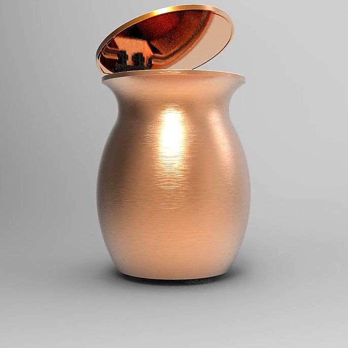 Qubo Badis - Vase Supreme with pink gold cover