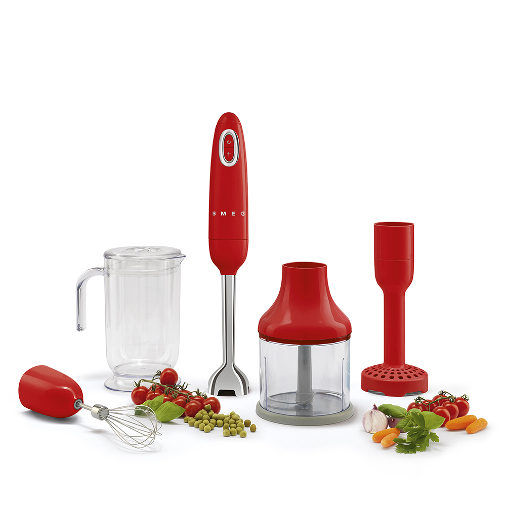 Smeg - kitchen appliance Hand Beater and accessories in red