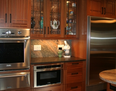 Mission Style Kitchen in Mahogany