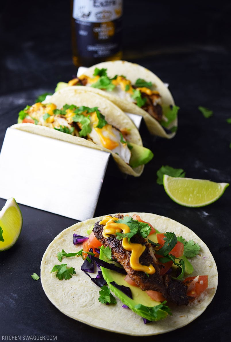 Blackened Fish Tacos Recipe  Kitchen Swagger