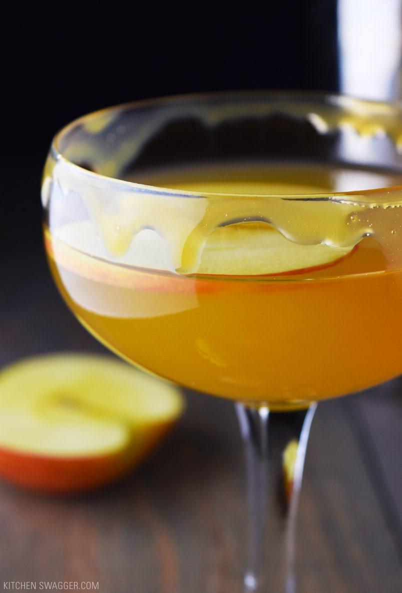 Caramel Apple Martini Recipe  Kitchen Swagger