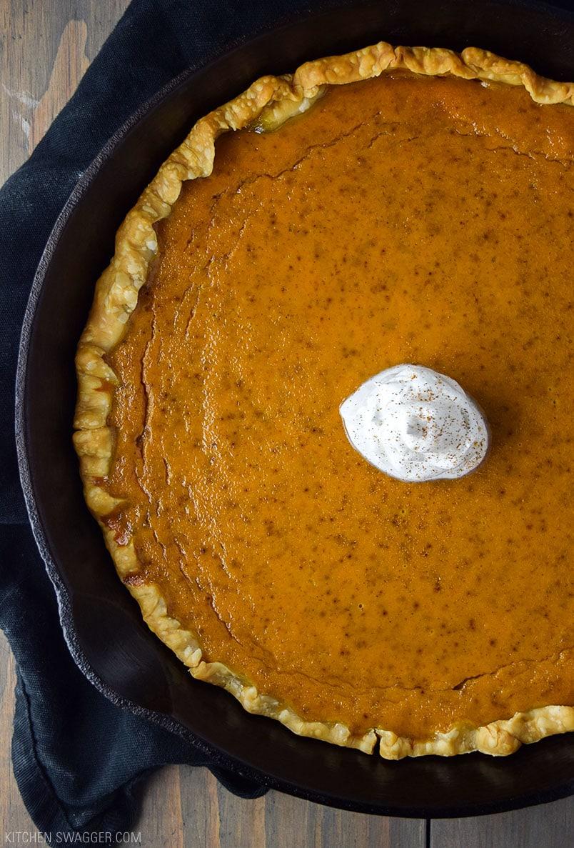 Skillet Pumpkin Pie Recipe  Kitchen Swagger