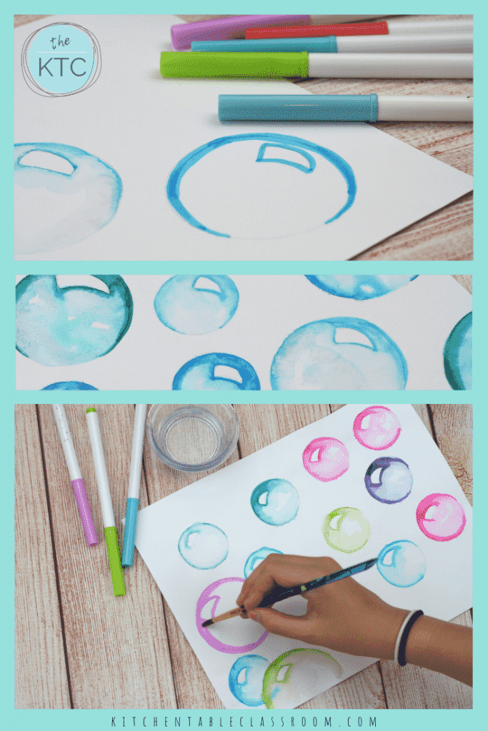 Things To Draw With Markers : things, markers, Bubbles, Washable, Markers, Kitchen, Table, Classroom