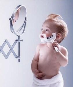 kid shaving