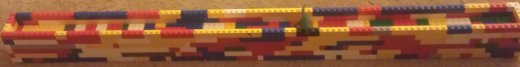 Lego model of wall. We will be tearing it down on New Year's, to symbolize the destruction of the Berlin Wall in 1989