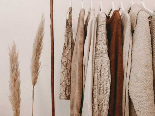 Fall  capsule wardrobe of neutral colored sweaters