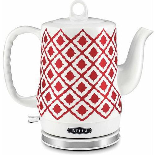 Bella Red Ceramic Kettle