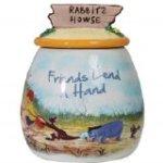 Westland Giftware Ceramic Cookie Jar, 8.25-Inch, Disney Friends Lend a Hand