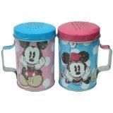 Disney Mickey Friends Mickey Minnie Polka Dots Tin Salt Pepper Shakers