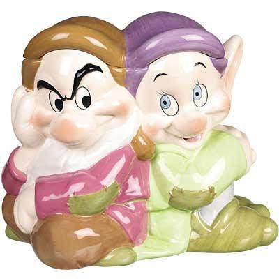 Disney Store Dopey and Grumpy Cookie Jar