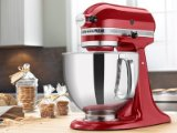 KitchenAid RRK150CA Refurbished Artisan Series Stand Mixer, 5 quart, Candy Apple Red