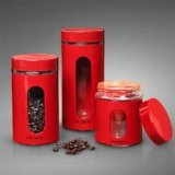 Gibson 3 Pc Red Canister Set